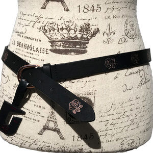 ♛5/$25♛ NWT No Boundaries Rose Belt Leather Black